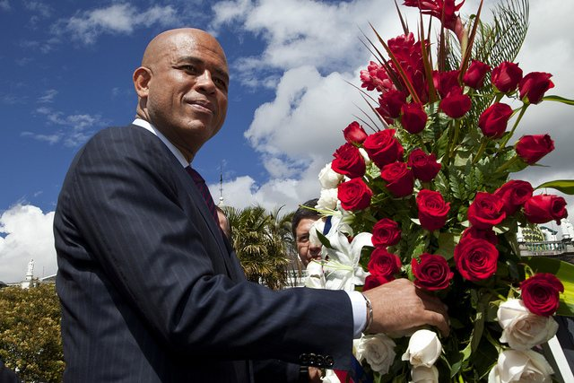 le président haïtien Michel Martelly. crédit photo: Cancillería del Ecuador via flick.com