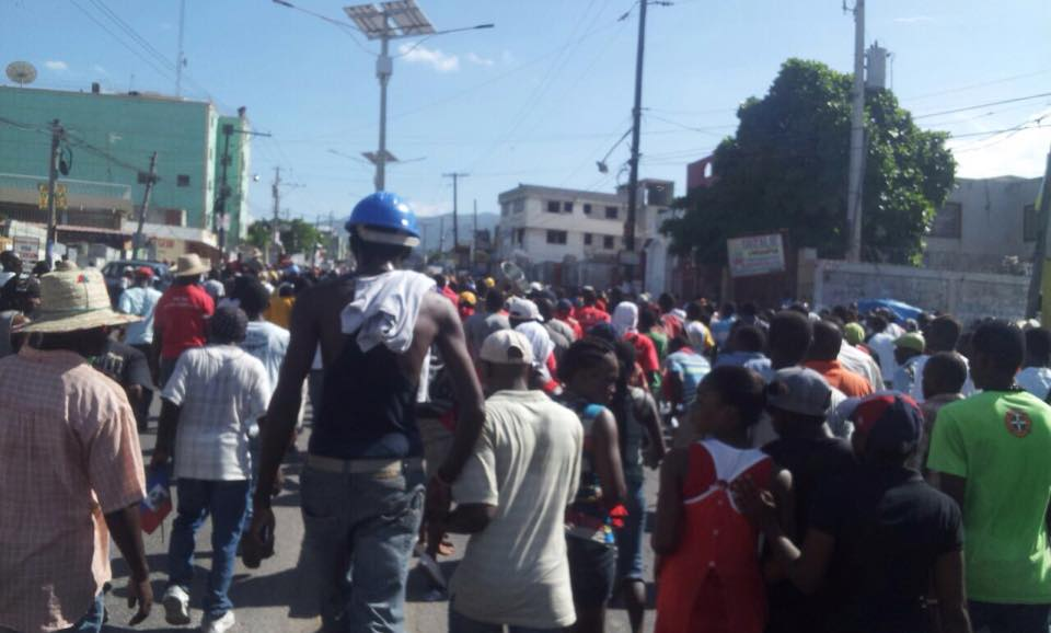 Manifestation de l'ooposition à Port-au-prince